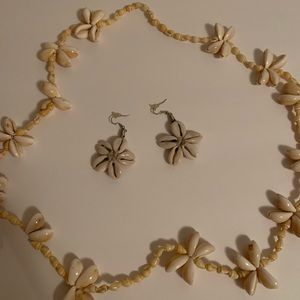 Coney Shell necklace & earrings